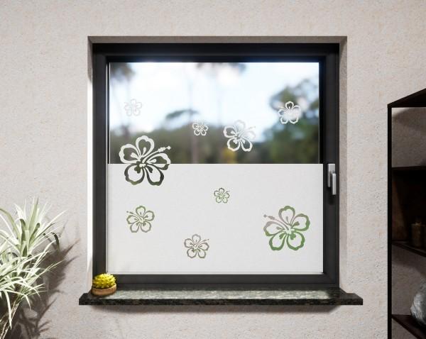 Glasdekor für Fenster, Blumen