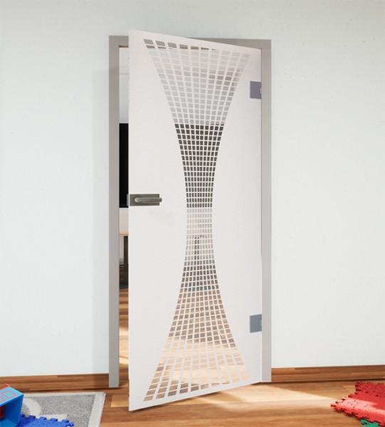 Glasdekor für Türen, Sanduhr