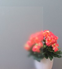 Sichtschutzfolie, Ätzglasdesign weiß matt