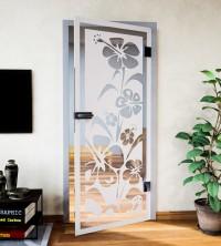 Glasdekor für Türen, Liliengarten