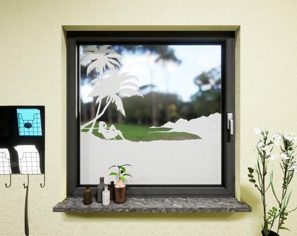 Glasdekor für Fenster, Hawaii