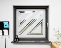 Glasdekor für Fenster, Prozentzeichen