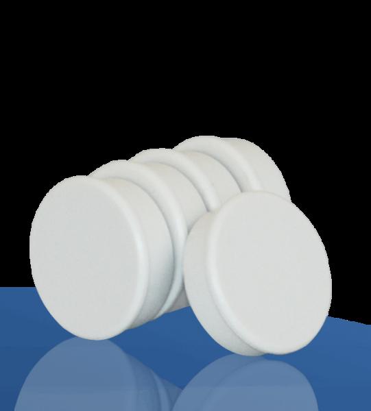 5 Magnete, weiß, 38mm