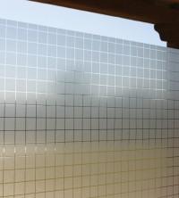 Adhäsionsfolie, transparent-weiße Quadrate 35 mm (geprägt)