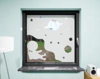 Glasdekor für Fenster, Astronaut